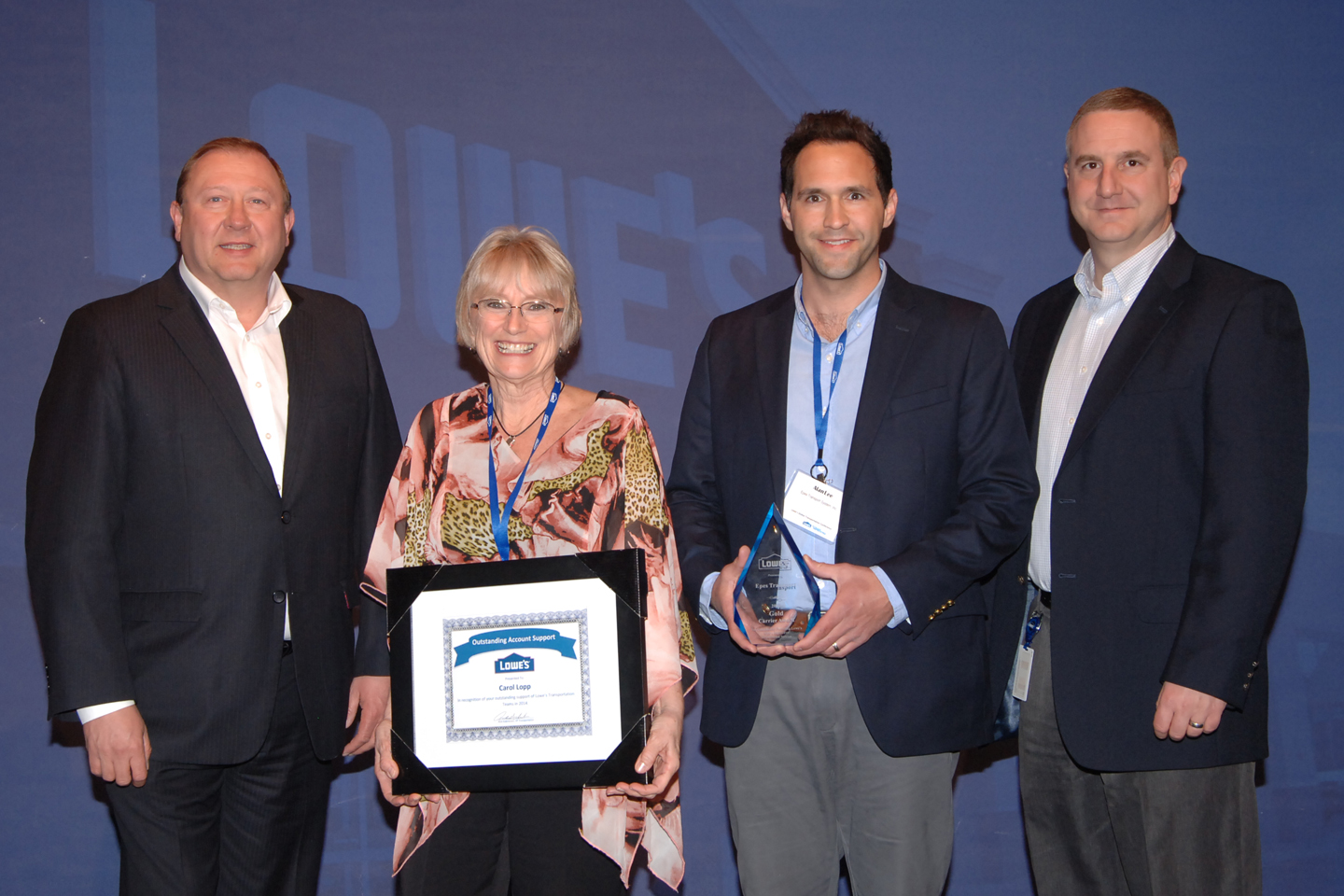 Epes Transport Recognized with 3 Service Awards at the  Lowe's Global Carrier Conference